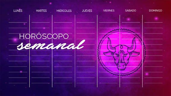 Horóscopo Tauro semanal- taurohoroscopo.com